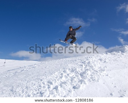 Snowboarder mid-air #12808186