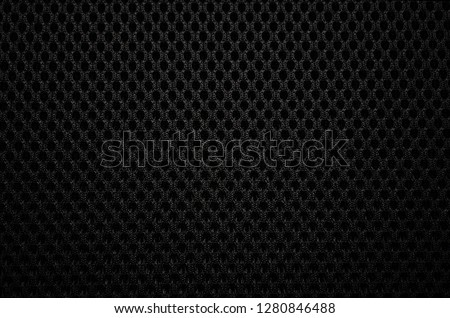 Closeup of mesh fabric pattern of the backrest of chair   #1280846488