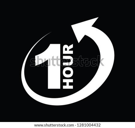 One hour arrow icon #1281004432