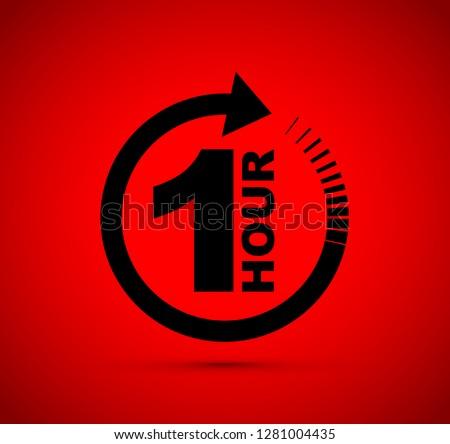 One hour arrow icon #1281004435