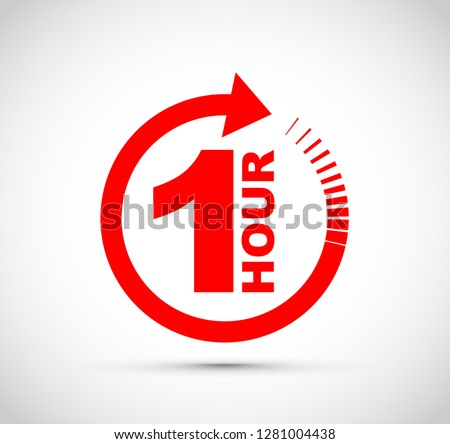 One hour arrow icon #1281004438