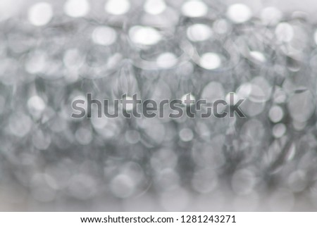 Blurred abstract background of the metal sponge. Horizontal photography #1281243271