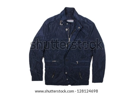 Male coat isolated on the white #128124698