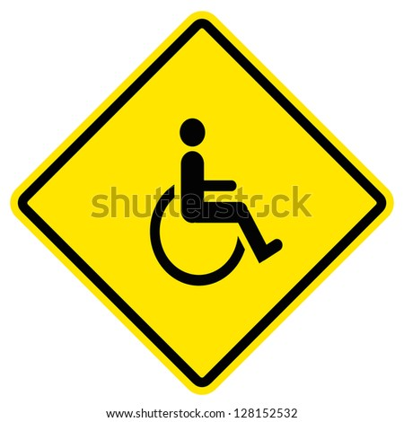disabled icon sign Royalty-Free Stock Photo #128152532
