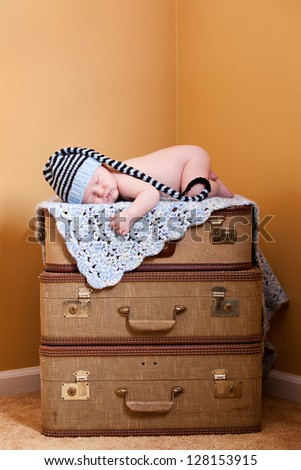 Moving in!  Concept of newborn moving into the family.  Room for your text on top. #128153915