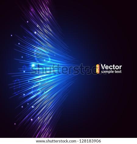 Vector blue lines equalizer