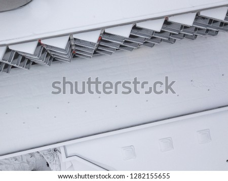 Aerial view of the snow-covered hotel building in Slovakia #1282155655