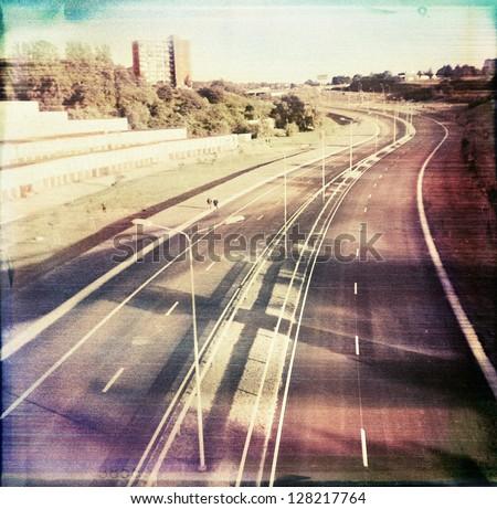 Designed retro medium format color photo. Used original negative.