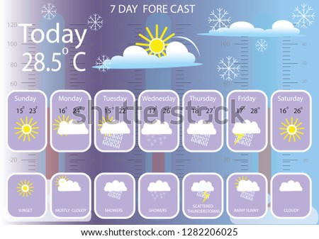 weather template vector  #1282206025