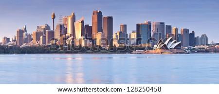 Sydney skyline at dawn