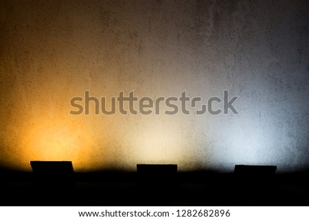 color temperature on old wall