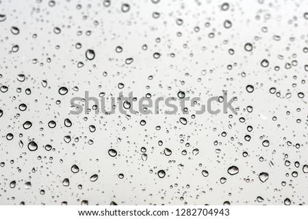 Rain drops on a window #1282704943