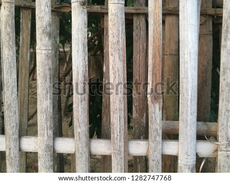 Brown bamboo fence in Thailand cultural. #1282747768