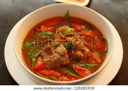 Indonesian food / Iga asam pedas #128285930
