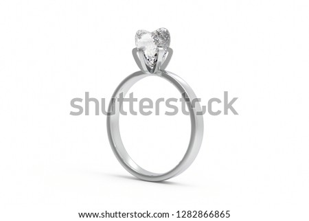 Wedding ring isolated on white background,3D rendering,3D illustration #1282866865