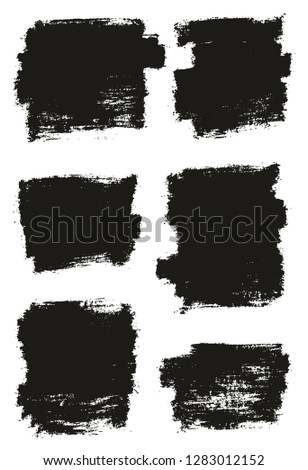 Paint Brush Thin Background High Detail Abstract Vector Background Set 19 #1283012152