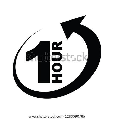 One hour arrow icon #1283090785