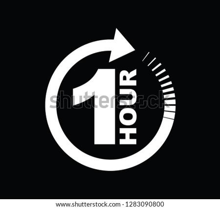 One hour arrow icon #1283090800