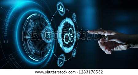 Automation Software Technology Process System Business concept. #1283178532