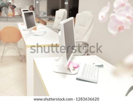 modern office travel Agency.photo with copy space #1283636620