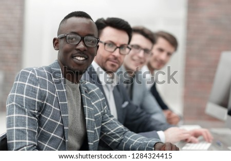 portrait of an international business team #1284324415