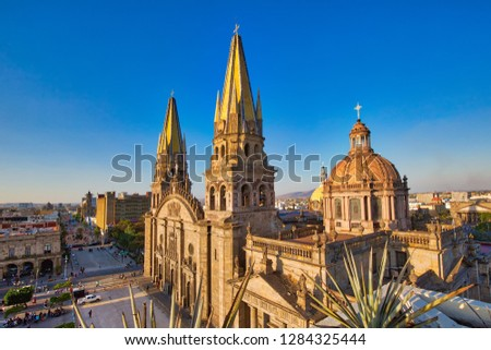 Guadalajara Central Cathedral (Cathedral of the Assumption of Our Lady), in Jalisco, Mexico #1284325444