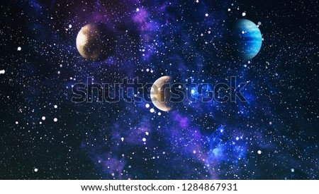 Colorful deep space. Universe concept background. Elements of this image furnished by NASA #1284867931