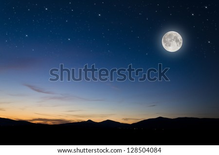 full moon background Royalty-Free Stock Photo #128504084