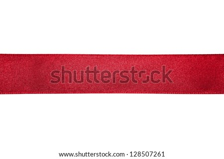 Red ribbon isolated on white background Royalty-Free Stock Photo #128507261