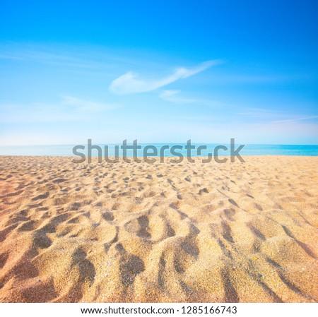 beach and beautiful tropical sea #1285166743