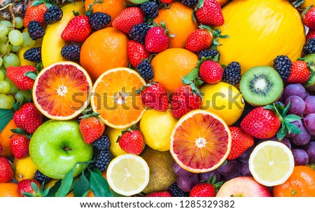 colorful healthy fruits #1285329382