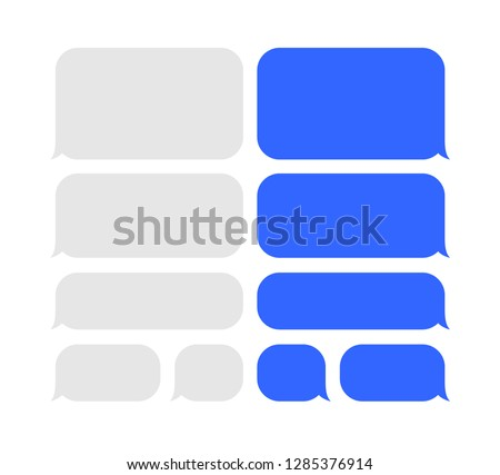 Vector message icon set. Chating flat style bubble illustration. Communication abstract background.