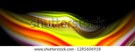 Creative line art. Vector banner background. Abstract motion. Graphic modern pattern. Abstract business background. #1285606918