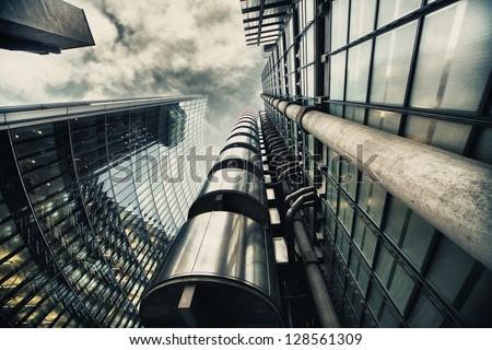HDR picture of skyscraper in London
