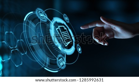 Document Management Data System Business Internet Technology Concept. Royalty-Free Stock Photo #1285992631