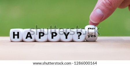 """Being happy? Hand turns a dice and changes the word """"no"""" to """"yes"""" (or vice versa) #1286000164"""