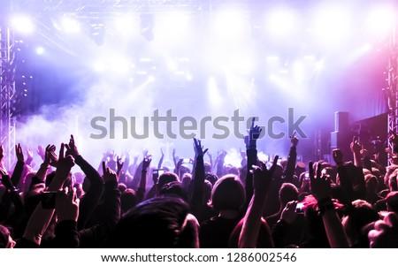 Concert crowd at rock concert #1286002546