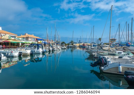LE LAVANDOU, FRANCE - JUNE 15, 2013: Marina of Le Lavandou in the Department Var of the province Provence-Alpes-Cote d´Azur #1286046094