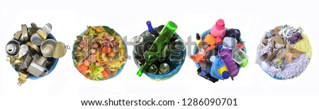 recycling metal,organic,glass,plastic and paper #1286090701