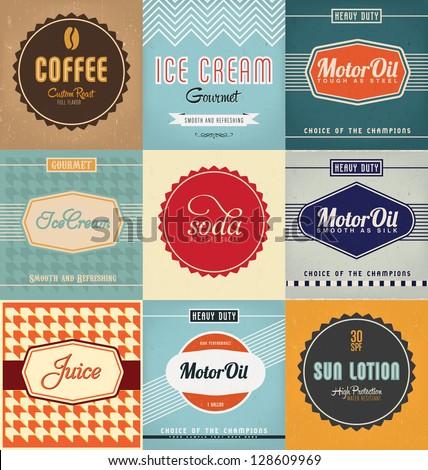 Vintage Label Design Set #128609969