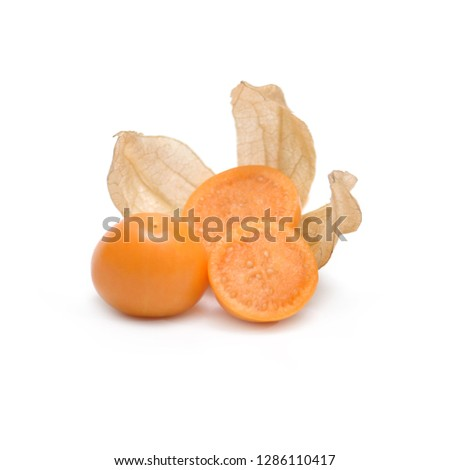 Cape gooseberry fruit isolate on white background #1286110417