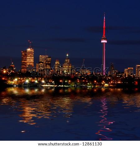 Night shot of Downtown - Toronto - Ontario - Canada #12861130