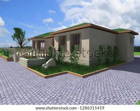 3 D Render, Design, various building projects #1286315419