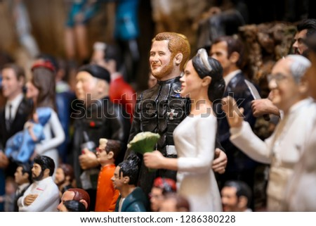 Meghan Markle and Prince Harry Miniature in Naples City, Italy