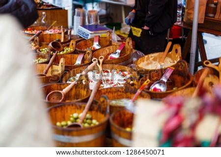 Street food market #1286450071