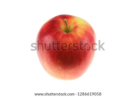 close up on red apple isolated on white background #1286619058