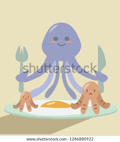 good morning.octopus breakfast #1286880922