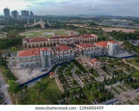 Nusajaya, Johor - Circa january, 2019: The Johor State building in Iskandar Puteri  #1286886409