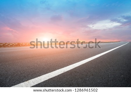 Highway Pavement Urban Road and Outdoor Natural Landscape #1286961502