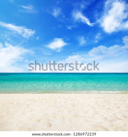 Beautiful tropical beach in summer day. #1286972239